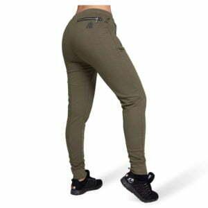 Pantaloni jogger cu tur lasat Celina - Verde Militar - Pantaloni Antrenament