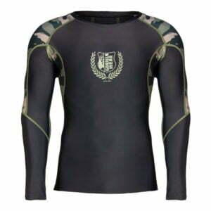 Bluza Barbati Lander Rashguard - Verde Militar Camuflaj - Bluza Antrenament