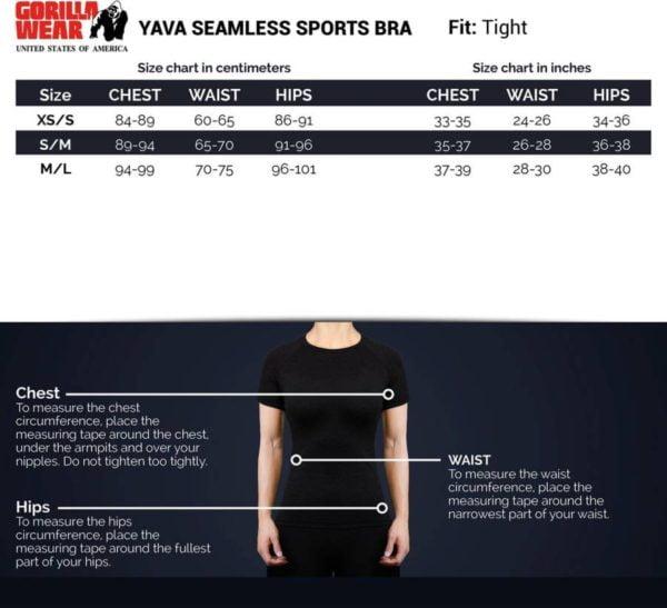 Bustiera Femei Yava Sports - Negru - Bustiera Fitness