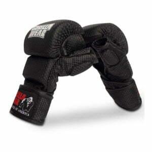 Manusi de MMA Sparring Ely - Negru cu alb - Manusi GorillaWear