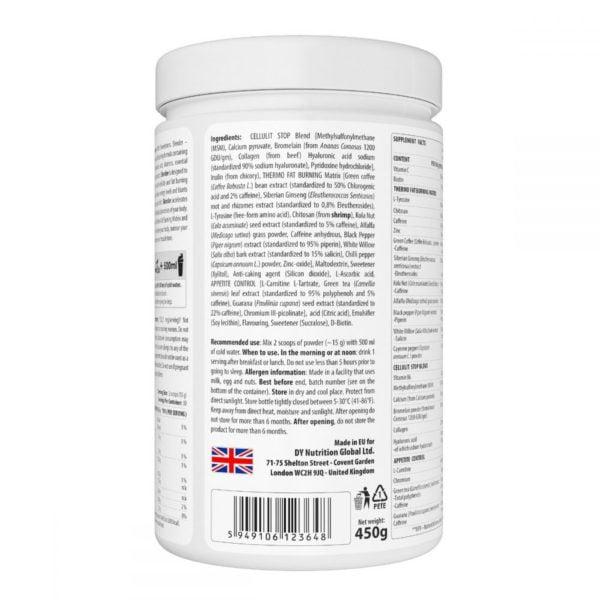 Arzator de Grasimi Anticelulitic DY Fat Burner 450g - cel mai bun arzator