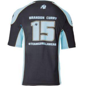Tricou Barbati 2.0 Brandon Curry negru-albastru deschis - black-light blue - Haine sala
