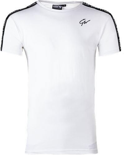 Tricou Barbati Chester - Alb-Negru - White-Black - Echipament sala barbati