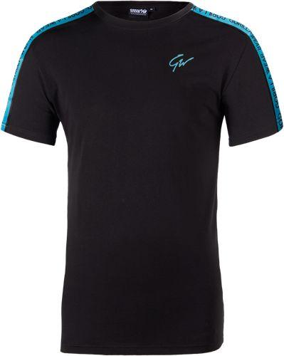 Tricou Barbati Chester - Negru-Albastru - Black-Blue - Tricou sport