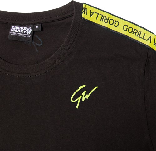 Tricou Barbati Chester - Negru-Galben - Black-Yellow - Haine fitness