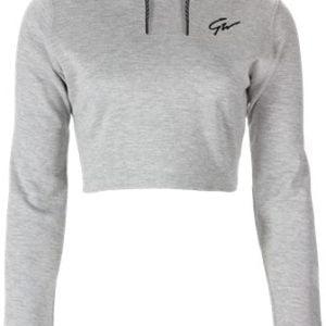 Hanorac Femei Decupat cu Gluga Pixley - Gri - Grey - haine fitness